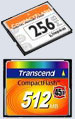 Compact Flash 256 Mb Kingston/ 512 Mb (45x)Transcend